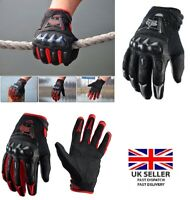 Motorcycle Motorbike Gloves Knuckle Protection Carbon Bike Riding Racing Gloves