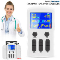 TENS Unit EMS Therapy Machine Massage Massager Muscle Pain Relief Body Recovery