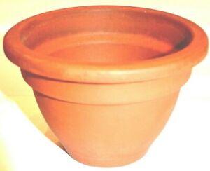 Flower Pot Bell Pot Tone Pot Terracotta Clay Pot Ø 15 High 10 CM