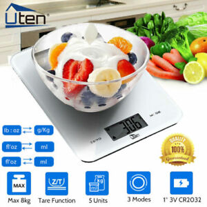 8KG Kitchen Scales Electronic Digital LCD Cooking Baking Food Weighing Scale UK