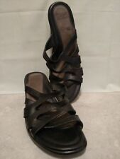 "Womens Dansko Sandals Black 2.5"" Heel Size 42 Eur 10 M US Leather Great Support"