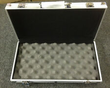 "Small Aluminum Clad Carry Storage Briefcase Box 14.5""x7.5""x2.25"" for campus work"