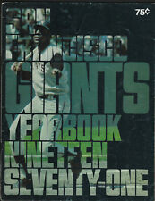 1971 San Francisco Giants Yearbook Mays McCovey
