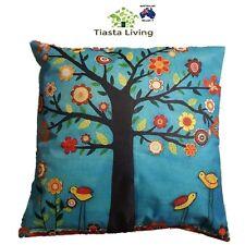 Stylish Flower Tree & Birds Cushion Cover' 43x43cm - Home Decor