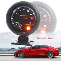 3.75'' Car Universal Tachometer Tacho Gauge Meter Led Shift Light 0-8000 RPM 0cn