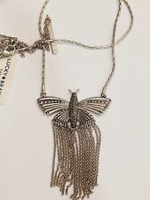 Authentic Lucky Brand Silver Tone Butterfly Charm Necklace, NWT