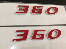 FIT FOR DODGE PLYMOUTH 360 ENGINE SIZE HOOD SCOOP FENDER TRUNK EMBLEMS - RED