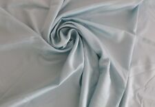 "Shiny Aqua SATIN FABRIC with Selvedge 56"" wide X 26"" long (2/3 yard)"