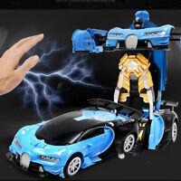 RC & Gesture Sensing Transforming Robot Deformation Toy Remote Control Car 1:12