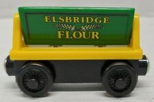 Genuine Thomas Tank Engine & Friends Wooden Train Elsbridge Flour Car Green Rare