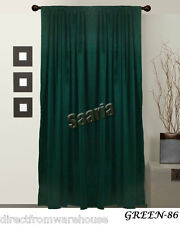 Saaria Velvet Thermal Blackout Curtain Panel & Backdrops Drape 9'Wx7'H Green-86