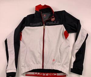 Castelli Jacket Men's Medium Gore Wind Stopper Gabba Cycling Jersey Windproof