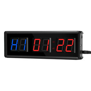 Seesii LED Gym Interval Timer Count Down/Up Stopwatch Clock Crossfits Sports