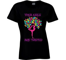 Yoga Girls Are Twisted Ladies T-Shirt Novelty Fashion Gift Exercise Gym Tee Top