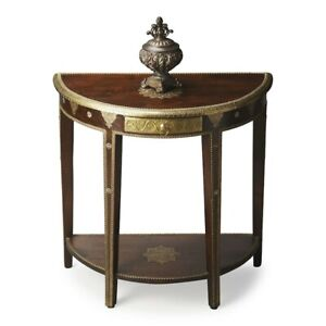 Butler Demilune Console Table, Artifacts - 2054290