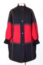 bcbd94ed488e2 Vtg 90s Red Black Wool Oversize Coat Duster Jacket Spencer Douglas Womens L    XL