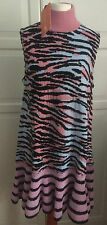 KENZO X h&m robe Tigre Robe wollmischung dress wool blend Tiger Stripe S Or M