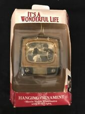 It's A Wonderful Life TV Set Light Up Xmas Ornament George Mary Bailey ENESCO