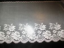 """5 YARDS Of Vintage PINK Flowers Flat LACE  7 1/4"""" Wide TRIM-1970's"""