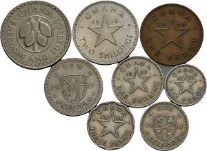 Savoca Coins Ghana Lot von 8 verschiedenen Münzen =BZB78791