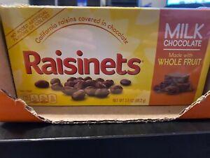 14 Boxes Raisinets California Raisins Covered in Milk Chocolate, 3.5oz each box