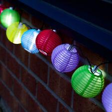 Guirlande solaire automatique 10 lampions de couleurs 10 led Etanche 4 mètres