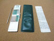 OMEGA Vintage Pocket Adding Machine Calculator Case Guide 1964 Old School PG1395