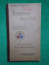 CARTE DE NUANCES SOIES NOUVEAUTÉS 1952 FEDERATION DE LA SOIE LYON ST ETIENNE