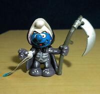 Smurfs Grim Reaper Halloween Smurf 20545 Figure Schleich 2005 Vintage Toy PVC