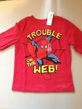 """# 64 NEW, BOY TEE size 2T,""""Spiderman-Trouble on the web"""", Old Navy, Marvel, NWT"""