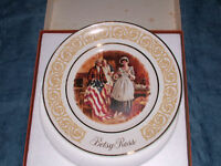 VINTAGE 1973 BETSY ROSS COLLECTOR PLATE  IN BOX !