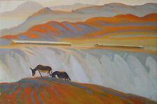 1982 SUMMER DAY,Armenian Art,Oil Painting,Armenia,Armenie,ALEXANDER GEVORGYAN