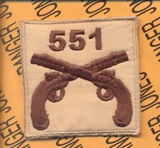 US Army 551st MP Military Police 101 Airborne HCI desert patch C