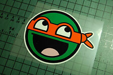 NINJA TURTLE ORANGE Sticker Decal Vinyl JDM Euro Drift Lowered illest Fatlace