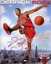 DERRICK ROSE CHICAGO BULLS AUTOGRAPHED SIGNED 8X10 PHOTO REPRINT