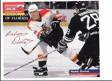 Radek Dvorak Unsigned 8x10 Stadium Giveaway 1995-96 Florida Panthers #13 of #40
