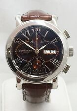 TOURNEAU HAUTE HORLOGERIE AUTOMATIC CHRONOGRAPH MEN'S WATCH Leather Band