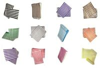 Stripe Candy Paper Bags Branded 5x7 & 7x9 Sweet Buffet Cart Various Colours VPL