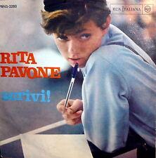 """RITA PAVONE SCRIVI !   7"""" DIFFERENT COVER ITALY PS ITALY 1964  ORCH. L. ENRIQUEZ"""