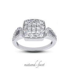 Certified Diamonds Platinum Right Hand Ring 1.52ctw E Vs1 Round Cut Earth Mined