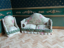 dolls house sofa and chair set
