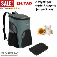 Carrier Breathable Carry Cat Dog Pet Travel Portable Ultra-soft Mesh Backpack RI