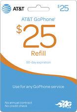 AT&T - AT&T Prepaid $25 Top-Up Prepaid Card
