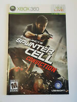 Splinter Cell Conviction Xbox 360  INSTRUCTION MANUAL ONLY ! excellent