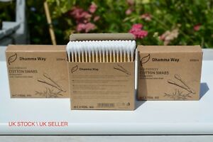 Bamboo Cotton Buds Natural Wooden Stem Eco Friendly Earbuds Organic Swabs