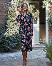 Joules Womens Aurelie A Line Shirt Dress - Blue Floral