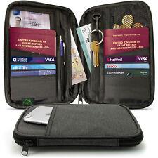 Travel Wallet Passport Holder RFID Organiser Pouch for Cards Documents Money IDs