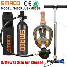 Mini Scuba Diving Equipment Kit Full Face Snorkel Mask 1L Air Oxygen Tank Set US