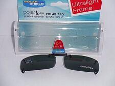 Solar Shield 54 rec 8 lens ultraligh Clip on Sunglasses 100% UVA/UV