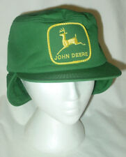 Unworn Vintage K-Brand Trucker Hat Fur Ear Flaps John Deere Patch Usa Farm Cap